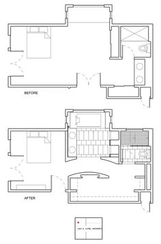 Awesome master suite transformation - floor plan by Amy A. Alper