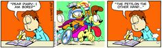 Read today's Garfield comic strip, or search for your favorite! Garfield Quotes, Garfield Cartoon, Garfield And Odie, Garfield Comics, Animal Pics, Funny Animal Pictures, Funny Photos, Funny Cats, Funny Animals