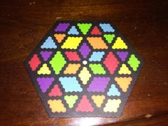 Perler beads hexagon freestyle