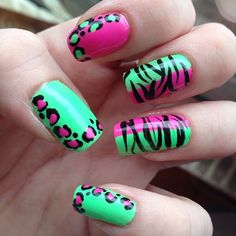Fun,Cute summer:hot pink lime green leopard etc