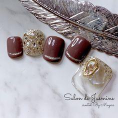 Summer Holiday Nails, Winter Nails, Christmas Nails, Summer Nails, Simple Nail Art Designs, Toe Nail Designs, Cute Pedicures, Feet Nails, Fall Nail Art