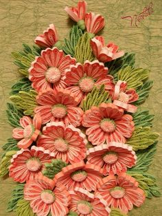 Quilling art: flowers