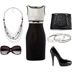 black and white, created by ashley-costales.polyvore.com