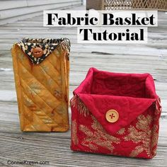 Sewing Fabric Fabric Basket tutorial 2 Christmas fabrics - Fabric Baskets Tutorial for all kinds of beautiful fabric baskets that are very easy to make. Perfect for gifts. Easy Gifts To Make, Simple Gifts, Quilt Patterns, Sewing Patterns, Fabric Basket Tutorial, Straight Line Quilting, Fabric Bowls, Quilted Gifts, Sewing Tutorials