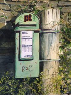 Old Post Box in Ireland - Harry Feeney Artist