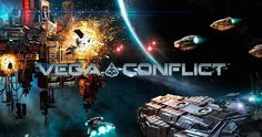 VEGA Conflict is a space-themed RTS browser game from Kixeye behind Battle Pirates and War Commander. In this new game, players add modules, extract resources from asteroids, research technologies, build ships, defend their bases, and raid others' bases to seize more resources and strengthen themselves.