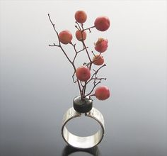 """Maria Apostolou, """"Sterling silver ring that I'm resizing & found materials."""""""