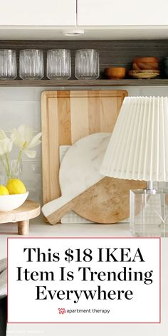 This $18 IKEA item is one of Instagram's hottest trends right now. #ikea #ikeafinds #ikeahacks #affordabledecor #lamps #lampshades #instagram #homedecor #homeaccents