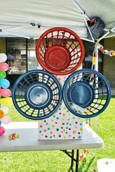 Use for gross motor? Summer Camp Themes, Carnival Games For Kids, Diy Carnival, Circus Carnival Party, Spring Carnival, Circus Theme Party, School Carnival, Carnival Birthday Parties, Carnival Themes