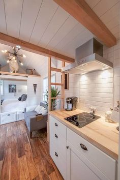 50 Tiny Houses You Can Rent on Airbnb in Tiny House Movement // Tiny Living // Tiny House Kitchen // Atlanta Tiny Home // Tiny Houses For Rent, Best Tiny House, Modern Tiny House, Tiny House Cabin, Tiny House Living, Tiny House Plans, Tiny House On Wheels, Tiny House 2 Bedroom, Tiny House Kitchens