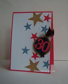 StampinUp! 30. Geburtstags Simply Stars, Georgeous Grunge