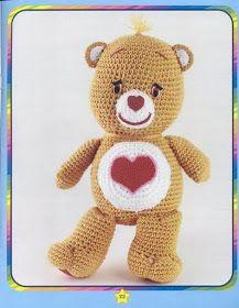 62 Ideas crochet animals toys care bears for 2019 Crochet Amigurumi, Crochet Teddy, Crochet Bear, Cute Crochet, Crochet Animals, Crochet For Kids, Crochet Crafts, Crochet Dolls, Yarn Crafts