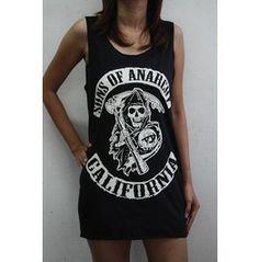 Sons Anarchy California Shirt Men Tank Tops Vest Tee