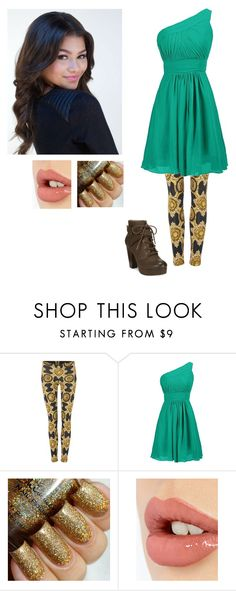 """""""Azalea, 10"""" by locksley-cxli ❤ liked on Polyvore featuring Versace, Coleman, Charlotte Tilbury, Material Girl, women's clothing, women's fashion, women, female, woman and misses"""