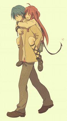 Angel Beats- Hideki Hinata x Yui Sad Anime, Anime Love, Manga Anime, Anime Art, Anime Couples Manga, Cute Anime Couples, Anime Girls, Manga Girl, Anime Triste