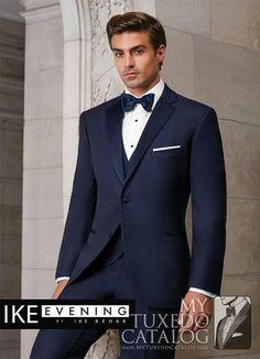 Navy 'Sebastian' Tuxedo from http://www.mytuxedocatalog.com/catalog/rental-tuxedos-and-suits/c1014-navy-sebastian-slim-tuxedo/