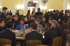 Fall term family style dinners are always fun and a great chance to catch up with friends during a relaxing meal. Loomis Chaffee School