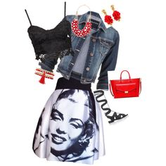 Marilyn by redgirl63 on Polyvore featuring polyvore fashion style maurices Dolce&Gabbana Nicholas Kirkwood Tory Burch Oscar de la Renta Charlotte Russe