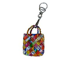 £4.00 Rubbish Bags! recycled key ring, handmade in the Philippines from waste juice cartons.  Find out more...  http://www.thefairtradestore.co.uk/fair-trade-accessories/rubbish-bags-recycled-key-ring/prod_41.html  #Fairtrade #Recycled #Eco #Philippines #Accessories