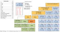 Green DNA Chart | Genealogy | Pinterest | Genealogy, Dna ...