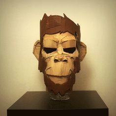 Cardboard Mask by Mnk Crew , via Behance