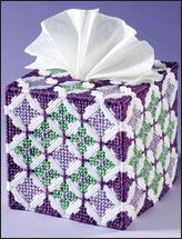 Everything Plastic Canvas - Boutique Tissue Box Holder Plastic Canvas Ornaments, Plastic Canvas Tissue Boxes, Plastic Canvas Crafts, Plastic Canvas Patterns, Tissue Box Holder, Tissue Box Covers, Canvas Projects Diy, Canvas Ideas, Yarn Storage