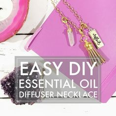 Make it Monday // DIY Diffuser Necklace  Inspirational Blends   A long while ago I shared this DIY on how to make an inspirational charm bracelet. I came up on some of the supplies again and thought about another jewelry DIY that these tassels would be go
