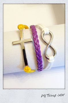 LSU Tigers Silver Cross Large Infinity by AllThingsJolie78 on Etsy