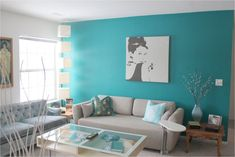 40 Fresh Turquoise Living Room Colour