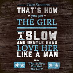 """Track Eight of Tate's Debut is """"That's How You Get the Girl""""."""