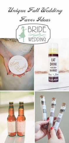 5 Unique Fall Wedding Favor Ideas | Bride Meets Wedding | Iowa, Illinois and Wisconsin Wedding Inspiration and Planning Information | Fall Weddings