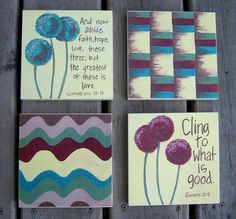 Christian inspiration art blocks