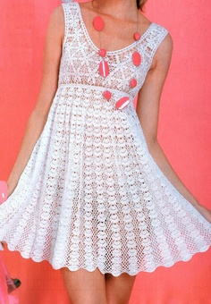 Crochet white summer dress, perfect for a beach or outdoor wedding. Just make it a long dress and it will be perfect. ♥LCW♥ with simple diagram. Advanced crochet level or visual crocheter. Clothing Patterns, Dress Patterns, Crochet Patterns, Mode Crochet, Crochet Lace, Crochet Skirts, Crochet Clothes, Crochet Wedding, Crochet Woman