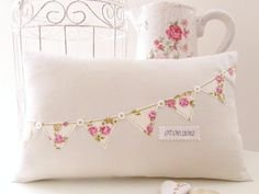 Personalised Floral Bunting Cushion By Random Button