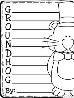 FREE GROUNDHOG DAY ACTIVITIES! #groundhogday