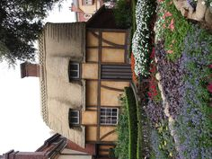 Flowers and cottage in England at Epcot