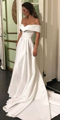 Lace Prom Dress,Off the Shoulder Prom Dress,Fashion Bridal