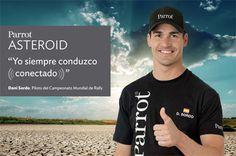 Dani Sordo, imagen de Parrot en España. Ganador del Rally de Alemania y segundo en Francia, Dani Sordo es la nueva imagen, en España, de la gama Asteroid de Parrot, con la que es posible conectarse a Internet dentro del coche basándose en el sistema operativo Android. Dani