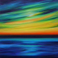 Sun Swept is an abstract sunset and seascape oil painting 50x50cm on a deep 4cm box canvas. It's inspired by watching the light change over the sea in Prussia Cove in Cornwall. The paint is layered, blended and slightly textured and the title is from 'Sunset' by Roxy Music