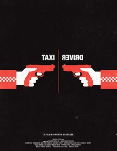 black red movie posters reimagined film classic style cool hot - British artist and designer Olly Moss has re-imagined eight movie classics in minimalist black and red color schemes. Olly Moss first gained recog. Famous Movie Posters, Minimal Movie Posters, Minimal Poster, Movie Poster Art, Taxi Driver 1976, Top 80, Olly Moss, How To Be Single Movie, Movie Prints