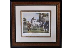 Originally painted by F.C. Turner and engraved by J.S. Mackrell 1842, 'Darley Arabian Roxana', a