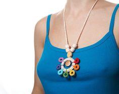 Valentines day SALE Rainbow Nursing Necklace / Nursing by TOP1234
