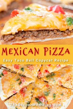 If you love Mexican pizza, then you have to try this amazing recipe from Soccer Mom Blog! This easy is so easy to make and tastes better than Taco Bell's! This is one food that the whole family with love. Try making this easy Mexican pizza for dinner this week! #dinner #mexicanpizza #pizza #mexican #recipes #easy #tacobell Pizza Recipes, Lunch Recipes, Mexican Food Recipes, Beef Recipes, Copycat Recipes, Drink Recipes, Yummy Recipes, Quick Summer Meals, Best Easy Dinner Recipes