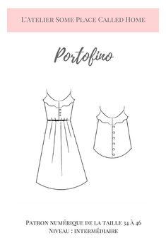 Portofino - Patron de couture - Débardeur et Robe d'été