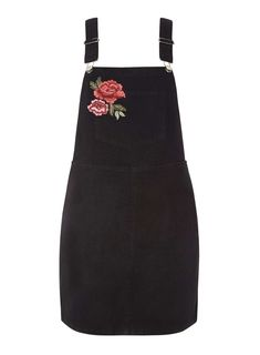 Rose embroidered dungaree dress - inspiration for my Tilly and the Buttons Cleo