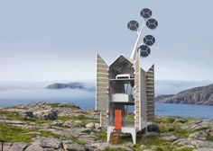 "Off-Grid and Solar-Powered Isolée Retreat by Dutch design group Tjep in Amsterdam Opens Like a Cupboard - This quirky concept also incorporates a roof-mounted ""solar tree"" that rotates to collect all the solar energy required to power the retreat. For their latest project, Isolée, Frank Tjepkema and his team embrace all the integrated technologies of the day to create a building that is wonderfully self-sufficient."
