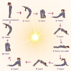 Easy Yoga Workout - salutation Get your sexiest body ever without,crunches,cardio,or ever setting foot in a gym Yoga Meditation, Yoga Flow, My Yoga, Wake Up Yoga, Morning Meditation, Yoga Fitness, Fitness Workouts, Sport Fitness, Fitness Wear