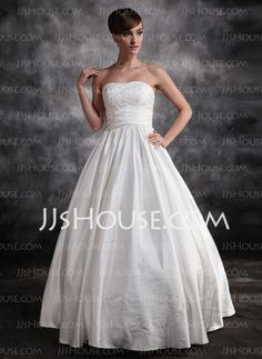 Wedding Dresses - $182.69 - Ball-Gown Sweetheart Floor-Length Satin Wedding Dress With Ruffle Lace (002016899) http://jjshouse.com/Ball-Gown-Sweetheart-Floor-Length-Satin-Wedding-Dress-With-Ruffle-Lace-002016899-g16899