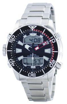 #Citizen #Aqualand Promaster Divers 200M Analog Digital JP1090-86E Mens Watch Stainless Steel Bracelet, Stainless Steel Case, 200m, Authentic Watches, Watch Sale, Watches Online, Casio Watch, Watches For Men, Quartz