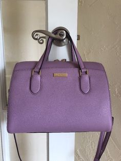 Kate Spade Laurel Way Lanae Satchel Lilac Purple  | eBay